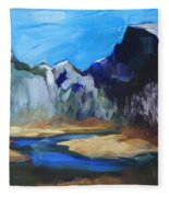 Autumn In Yosemite Fleece Blanket