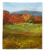 Autumn Is Here Fleece Blanket