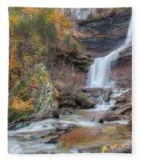 Autumn Kaaterskill Falls Square Fleece Blanket