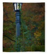 Autumn Lamp Fleece Blanket