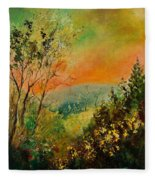 Autumn Landscape 5698 Fleece Blanket