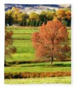 Autumn Landscape Dream Fleece Blanket