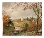 Autumn Landscape Fleece Blanket