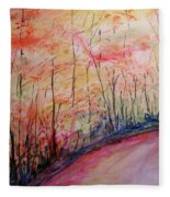 Autumn Lane II Fleece Blanket