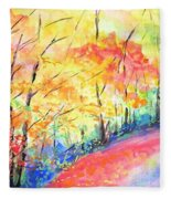 Autumn Lane Iv Fleece Blanket