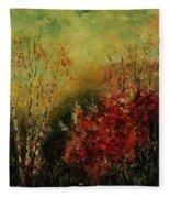 Autumn Lanfscape Fleece Blanket