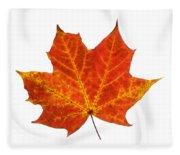 Autumn Leaf 3 Fleece Blanket