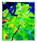 Autumn Leaf Abstract Fleece Blanket