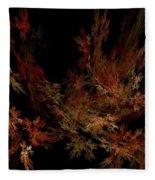 Autumn Leaf Dance Fleece Blanket