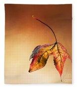 Autumn Leaf Fallen Fleece Blanket