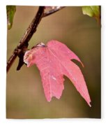 Autumn Leaf Fleece Blanket