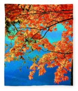 Autumn Leaves 8 Fleece Blanket