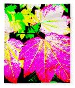 Autumn Leaves Holiday Style Fleece Blanket
