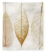 Autumn Leaves IIi Fallen Gold Fleece Blanket