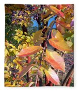 Autumn Leaves Fleece Blanket