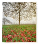 Autumn Leaves Near To Far Super High Resolution Fleece Blanket