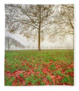 Autumn Leaves Near To Far Super High Resolution Fleece Blanket