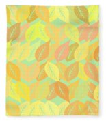 Autumn Leaves Pattern Fleece Blanket