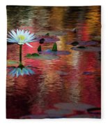 Autumn Lily Fleece Blanket
