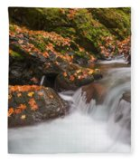 Autumn Litter Fleece Blanket