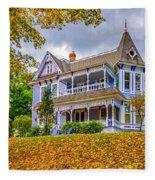 Autumn Mansion Fleece Blanket