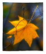 Autumn Maple Leaf Fleece Blanket