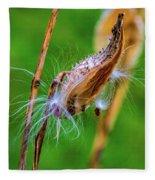 Autumn Milkweed 7 Fleece Blanket