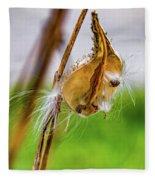 Autumn Milkweed 9 Fleece Blanket