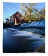 Autumn Mill Portrait Fleece Blanket