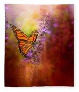 Autumn Monarch Fleece Blanket