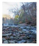 Autumn Morning Along The Wissahickon Creek Fleece Blanket