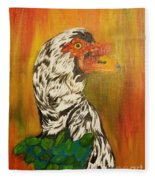 Autumn Muscovy Portrait Fleece Blanket