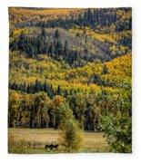 Autumn On A Colorado Range Fleece Blanket