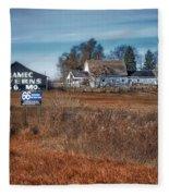 Autumn On A Rural Farm Fleece Blanket