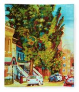 Autumn On Bagg Street Fleece Blanket