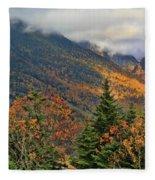 Autumn On Mount Mansfield Vermont Fleece Blanket