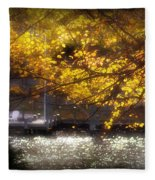Autumn On The Cove Fleece Blanket