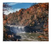 Autumn On The Cumberland  Cumberland Falls Fleece Blanket