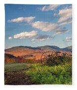 Autumn On The Farm Panorama Fleece Blanket