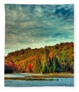 Autumn On The Moose River In Thendara Fleece Blanket