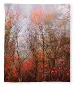 Autumn On The Mountain Fleece Blanket