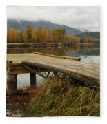 Autumn On The River Fleece Blanket