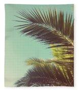 Autumn Palms Fleece Blanket