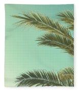 Autumn Palms II Fleece Blanket