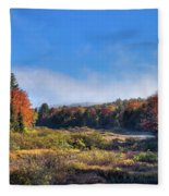 Autumn Panorama At The Green Bridge Fleece Blanket