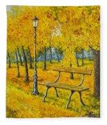 Autumn Park Fleece Blanket