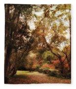 Autumn Passage II Fleece Blanket