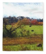 Autumn Pasture Fleece Blanket