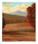 Autumn Pastures Fleece Blanket