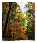 Autumn Path Fleece Blanket